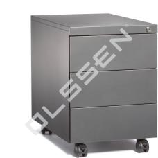 BASIC Verrijdbaar Ladeblok met 3 laden (60 cm diep)